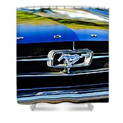 1965 Shelby Prototype Ford Mustang Grille Emblem Shower Curtain