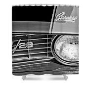 1969 Chevrolet Camaro Z 28 Grille Emblem Shower Curtain