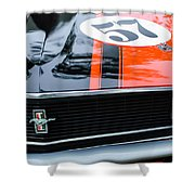 1970 Ford Mustang Boss 302 Grille Emblem Shower Curtain