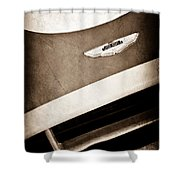 1993 Aston Martin Dbr2 Recreation Hood Emblem Shower Curtain