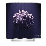 Adeno-associated Virus Shower Curtain