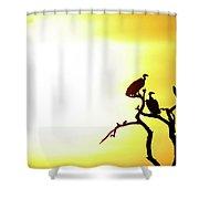 African Birds Shower Curtain