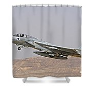An F-15c Baz Of The Israeli Air Force Shower Curtain