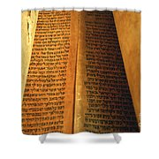 Ancient Torah Scrolls From Yemen  Shower Curtain