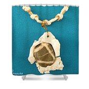 Aphrodite Anadyomene  Necklace Shower Curtain by Augusta Stylianou