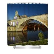 Avignon Bridge Shower Curtain