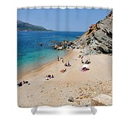 Beach In Legrena Shower Curtain