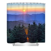 Blue Ridge Parkway Autumn Sunset Over Appalachian Mountains  Shower Curtain