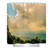 Blue Ridge Parkway Scenic Mountains Overlook Shower Curtain