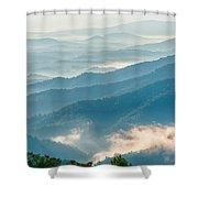 Blue Ridge Parkway Scenic Mountains Overlook Summer Landscape Shower Curtain