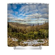 Blue Ridge Parkway Winter Scenes In February Shower Curtain