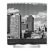 Buildings At The Waterfront, Boston Shower Curtain