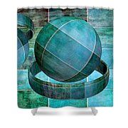 5 By 5 Ocean Geometric Shapes Shower Curtain