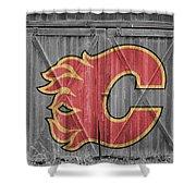 Calgary Flames Shower Curtain
