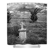Cemetery Series Manderson Wy Shower Curtain