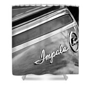 Chevrolet Impala Emblem Shower Curtain
