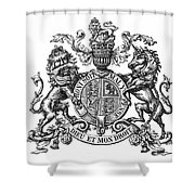 Coat Of Arms Great Britain Shower Curtain