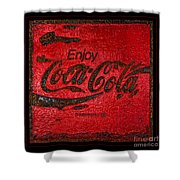 Coca Cola Classic Vintage Rusty Sign Shower Curtain