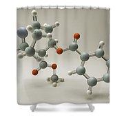Cocaine Molecule Shower Curtain