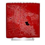 Cochabamba Street Map - Cochabamba Bolivia Road Map Art On Color Shower Curtain