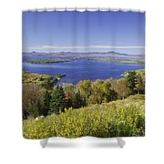 Colorful Fall Forest Near Rangeley Maine Shower Curtain