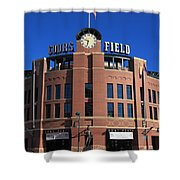 Coors Field - Colorado Rockies Shower Curtain