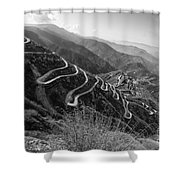 Curvy Roads Silk Trading Route Between China And India Shower Curtain