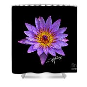 Dots Of Flowers Shower Curtain