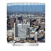 Downtown San Jose California Shower Curtain