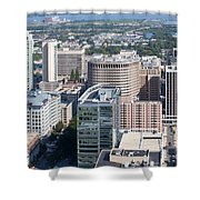 Downtown Skyline Of Wilmington Shower Curtain