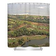 East Coast Aerial Near Jekyll Island Shower Curtain
