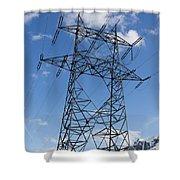 Electricity Pylon Shower Curtain