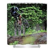Extreme Biking In Alaska Shower Curtain