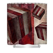 5 Fire Cubed Shower Curtain