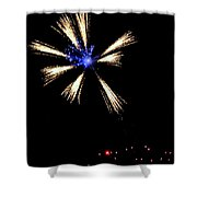 Fireworks In Neon Shower Curtain