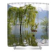 Flooding Alpine Lake Shower Curtain