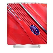 Ford Emblem Shower Curtain