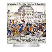 France Revolution, 1848 Shower Curtain