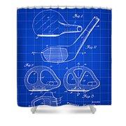 Golf Club Patent 1926 - Blue Shower Curtain