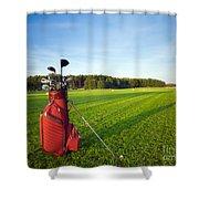 Golf Gear Shower Curtain by Michal Bednarek