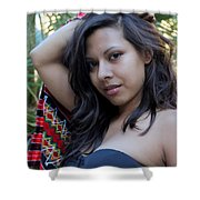 Hispanic Beauty Shower Curtain