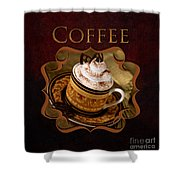 Cappuchino Coffee Gallery Shower Curtain