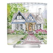 House Rendering Shower Curtain