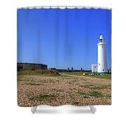 Hurst Point Lighthouse Shower Curtain