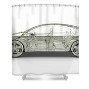 Hybrid Car Shower Curtain