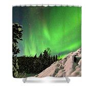 Intense Display Of Northern Lights Aurora Borealis Shower Curtain