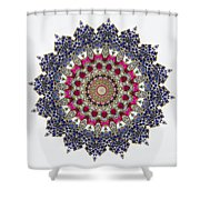 Kaleidoscope Colorful Jeweled Rhinestones Shower Curtain