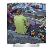 Lake Worth Street Painting Festival Shower Curtain