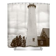 Lighthouse - Tawas Point Michigan Shower Curtain