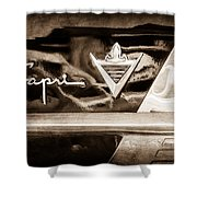 Lincoln Capri Emblem Shower Curtain